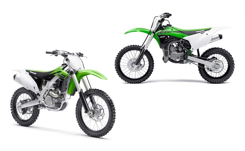 kawasaki kx100 and kx250f launched in india
