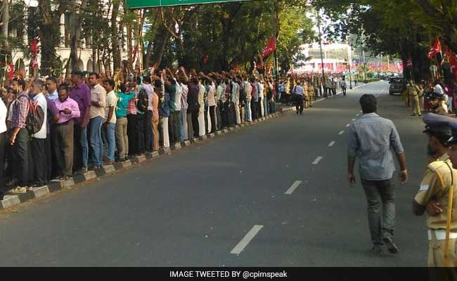 Formed 700 Km Human Chain In Kerala To Protest Notes Ban Says Left