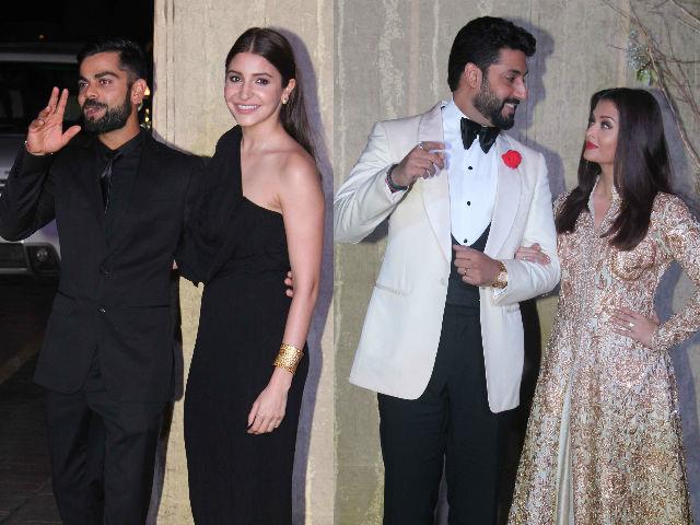 Anushka Sharma And Virat Kohli, Aishwarya And Abhishek Make Couples' Entry At Manish Malhotra's Party
