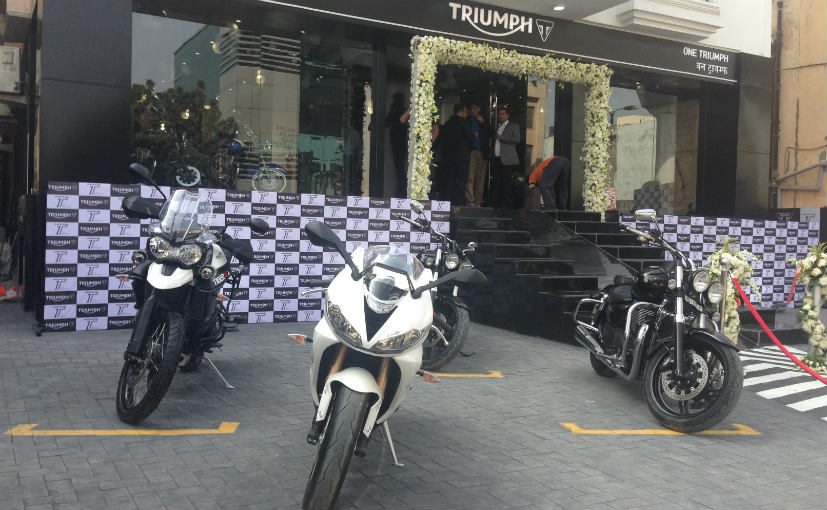 one triumph dealership in delhi