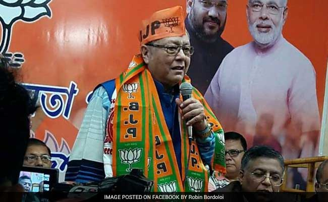 Former Assam Congress Minister Robin Bordoloi Joins BJP