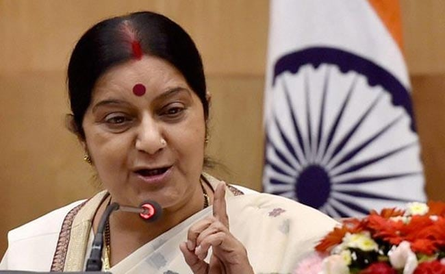 Sushma Swaraj slams Pakistan's Sartaj Aziz in series of blistering tweets