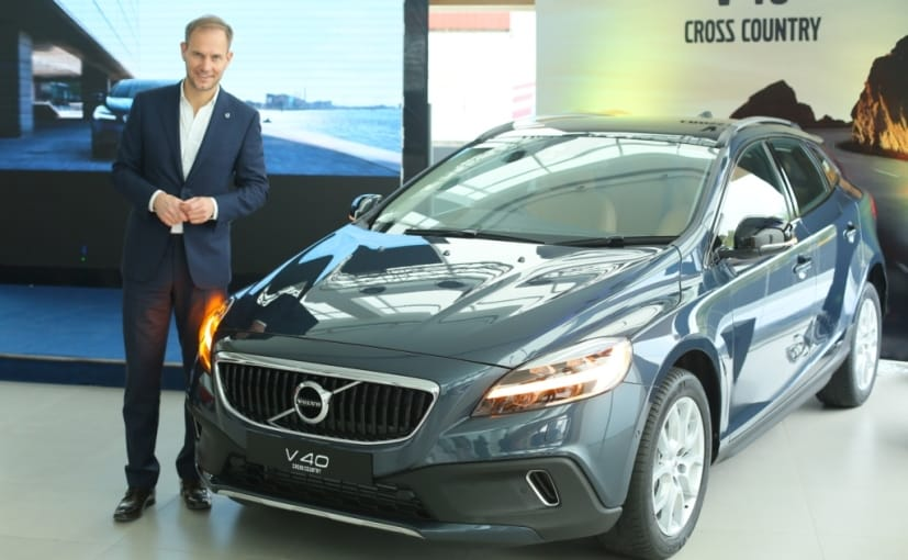 tom von bonsdorff with the 2017 volvo v40 cc