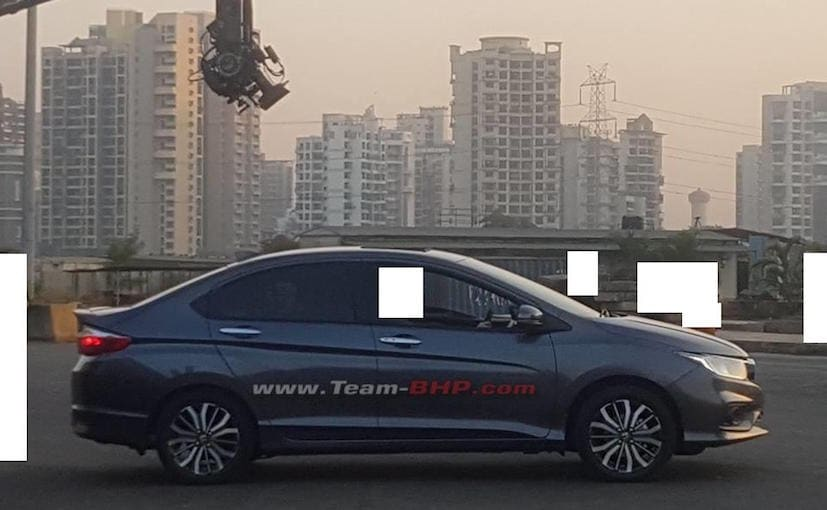 2017 Honda City Facelift Spied In India During TVC Shoot