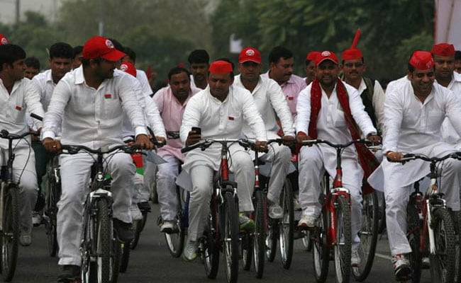 Samajwadi Party's Cycle Yatra From UP's Ghazipur To Delhi Starts Today
