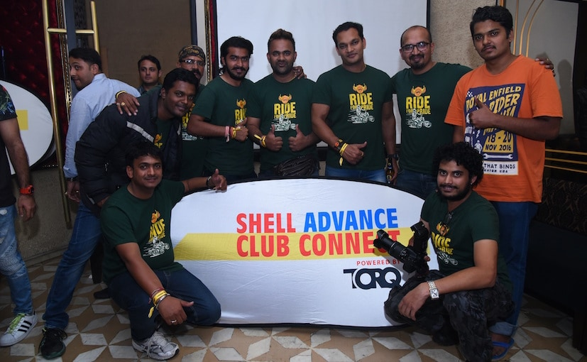 bikers at shell event