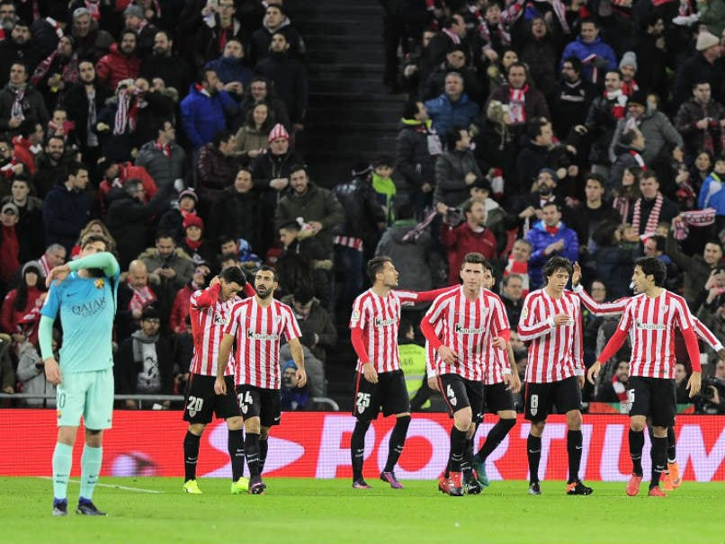 Nine-Man Athletic Bilbao Beat Barcelona 2-1 In Copa del Rey