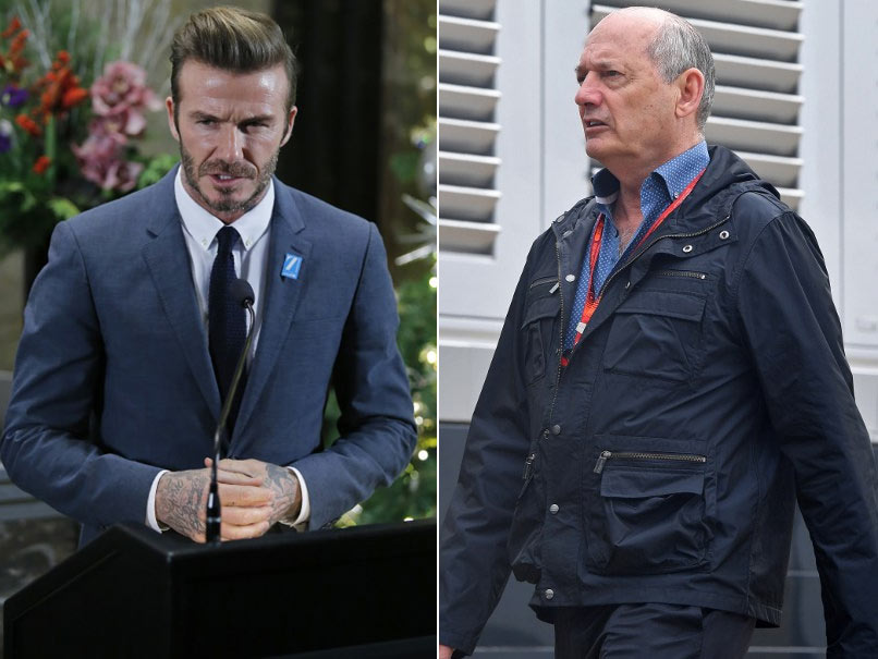 David Beckham, Ron Dennis Square Up At New Year