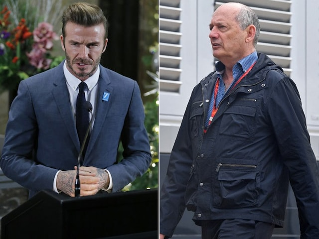 David Beckham, Ron Dennis Square Up At New Years Eve Show In Maldives