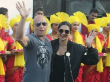 Deepika Padukone, Vin Diesel Arrive In India For <i>xXx: The Return Of Xander Cage</i>, Hand-In-Hand