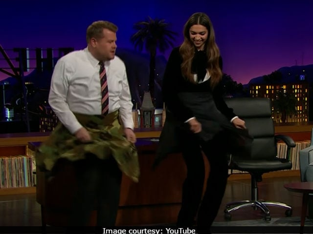 Deepika Padukone Takes Lungi Dance International. First, Vin Diesel. Now, James Corden