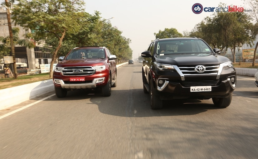 GST Rates on Car - ford endeavour vs toyota fortuner