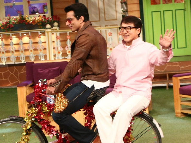 Kung Fu Yoga: Jackie Chan, Sonu Sood Cycle Around On The Sets Of Kapil Sharma's Show