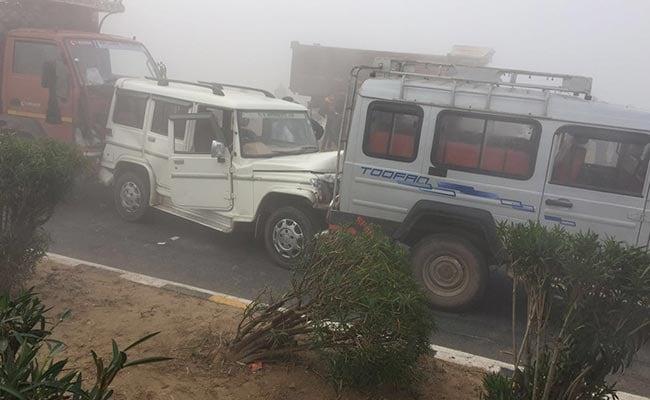 Fog Causes 30-Vehicle Pile-Up At Kanota On Jaipur-Agra Highway, 1 Dead