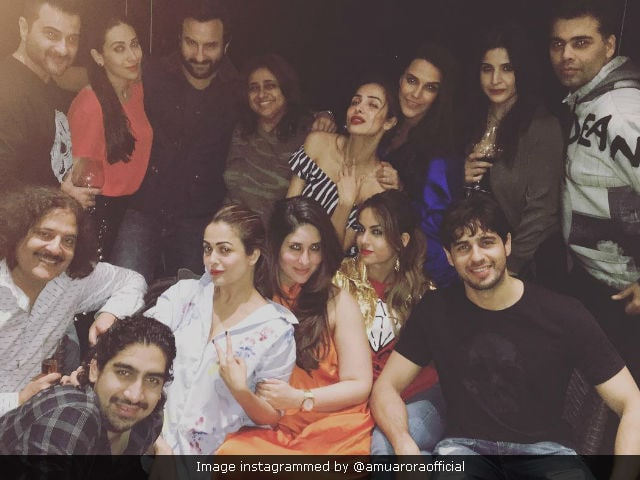 For Kareena Kapoor Khan, Orange Is The New Black At Karan Johar's Party