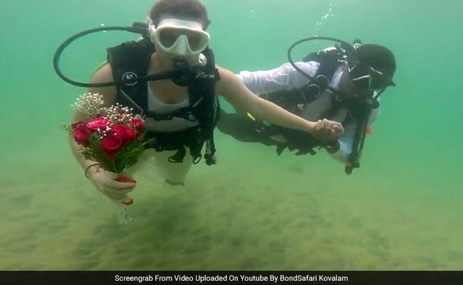 kerala underwater wedding