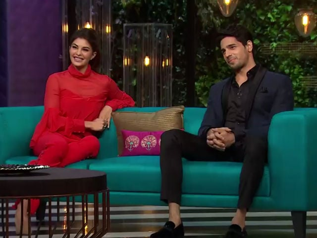 Koffee With Karan 5: Jacqueline Fernandez And Sidharth Malhotra Are Not Shy on The Couch