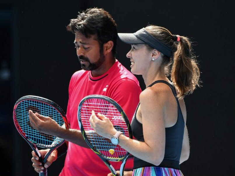 Australian Open: Leander Paes-Martina Hingis March Into Mixed Doubles Quarters