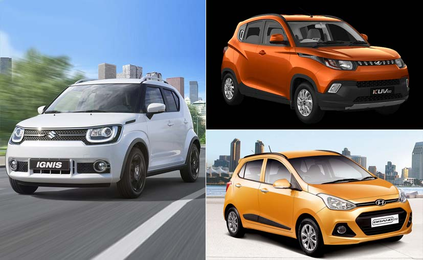 Maruti Suzuki Ignis vs Hyundai Grand i10 vs Mahindra KUV100: Spec Comparison