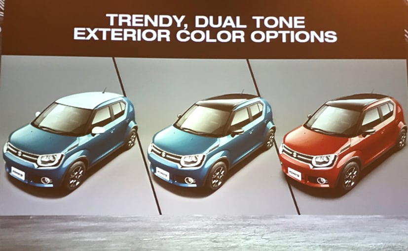 maruti suzuki ignis two tone roof colour