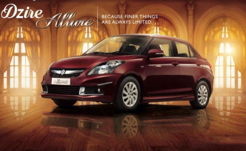 Maruti Suzuki Swift Dzire Allure Limited Edition Launched