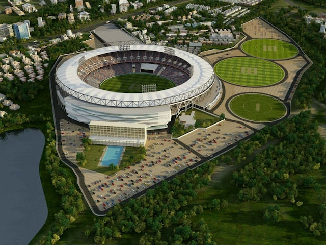 Work Begins On Worlds Biggest Cricket Stadium In Ahmedabad