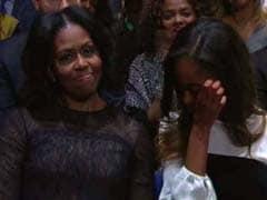 विदाई भाषण के दौरान भावुक हुए बराक ओबामा, मिशेल और बेटी मालिया भी रोए