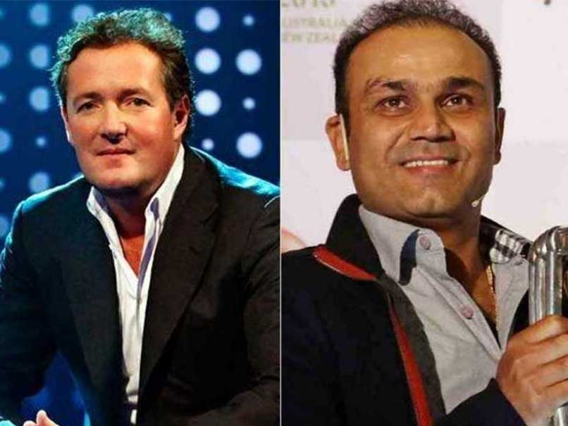Virender Sehwag, Piers Morgan End The Year on a Happy Note