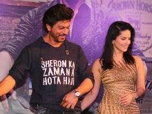 At <I>Raees</i> Party, Shah Rukh Khan And Sunny Leone Celebrate Box Office Crores
