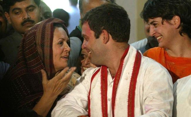 Uttar Pradesh Elections: Sonia Gandhi, Rahul Gandhi, Priyanka Gandhi File Photo