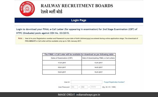 RRB NTPC Recruitment 2016 Stage 2 Exam Admit Card Released: Download Now And Know Other Details
