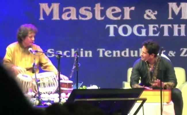 Sachin Tendulkar's Jugalbandi With Zakir Hussain Is All Kinds Of Wonderful