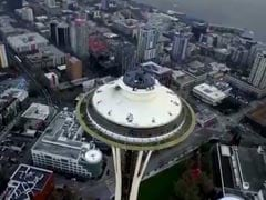 Watch: Private Drone Crashes Into Seattle's Famous Space Needle