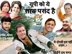 Congress' <i>Sholay</i> Poster Predictably Has Rahul Gandhi As Jai