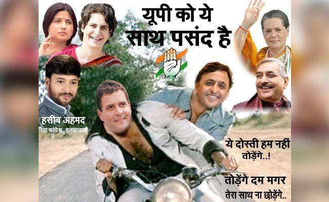 Congress' Sholay Poster Predictably Has Rahul Gandhi As Jai