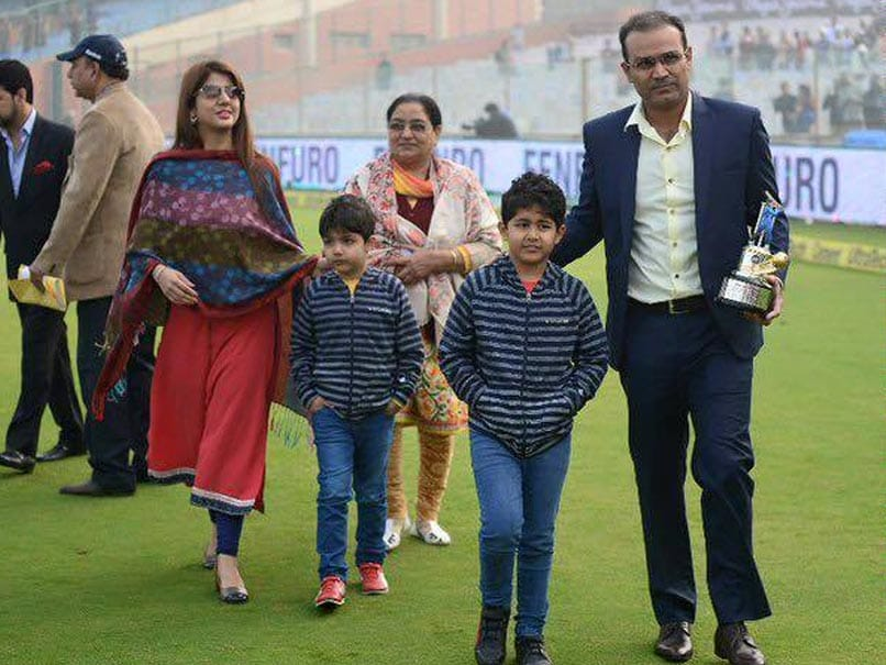 Virender Sehwag Shares Sketch of MS Dhoni Drawn By His Son