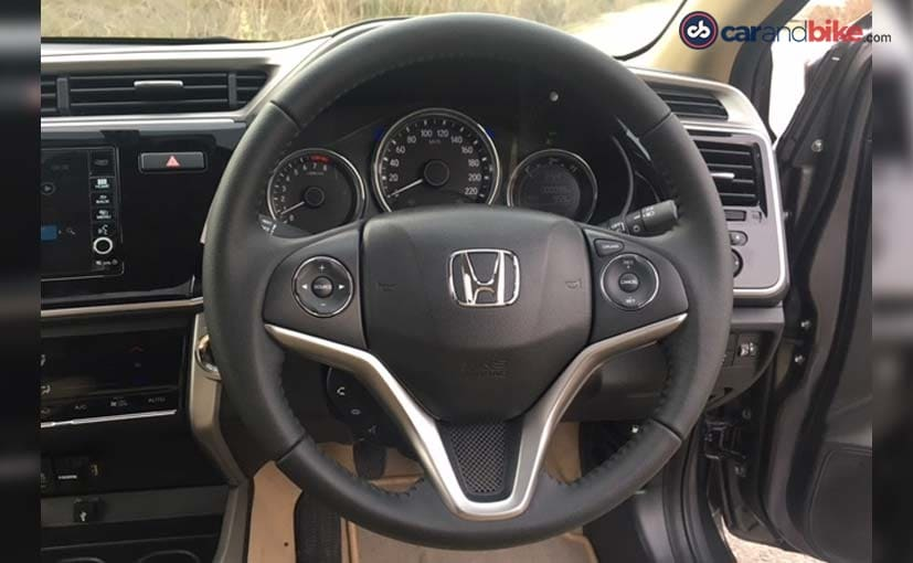 2017 honda city facelift steering wheel
