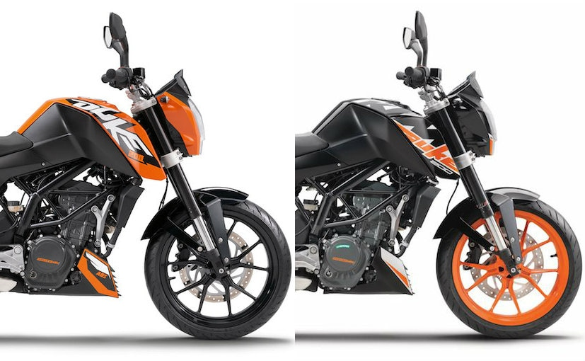 2017 KTM 200 Duke: Old vs New