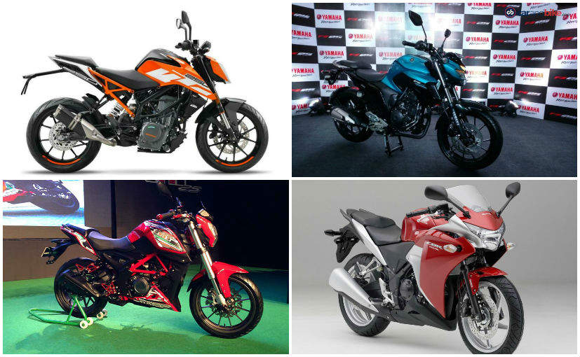 2017 KTM 250 Duke Vs Benelli TNT 25 Vs Honda CBR250R Vs Yamaha FZ25: Specification Comparison