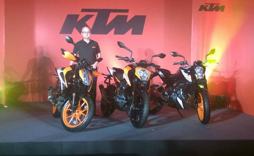 2017 KTM 390 Duke, 250 Duke And 200 Duke Launched In India; Priced From ₹ 1.43 Lakh