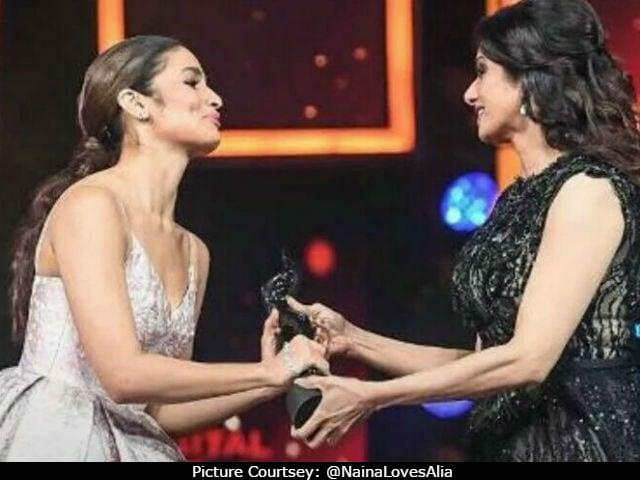 Alia Bhatt Received Award From Sridevi. 'Sheer Joy,' Tweeted Her Dad