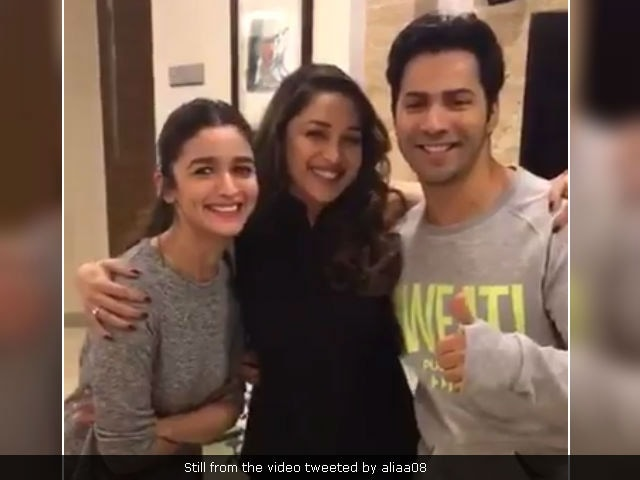 Alia Bhatt, Varun Dhawan Needed Some Tamma Tamma Help. Madhuri Dixit To The Rescue