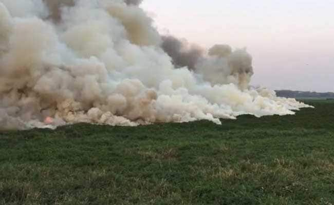 Smoke Billows From Bellandur Lake After Fire Doused