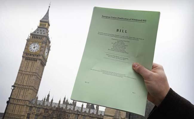 ब्रिटेन की संसद के हाउस ऑफ कॉमन्स में पारित किया गया ब्रेक्जिट विधेयक