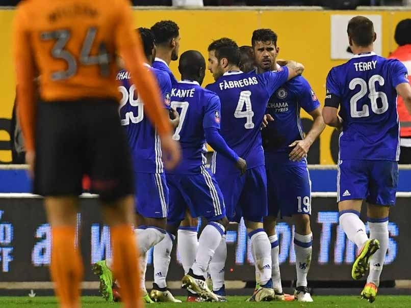 Chelsea's Pedro, Diego Costa Muzzle Wolverhampton in FA Cup