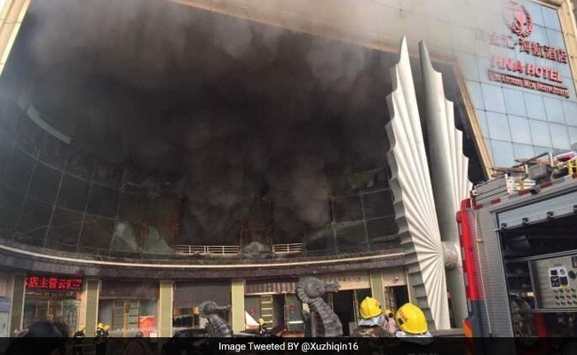 10 killed, 14 injured as massive fire breaks out in China hotel