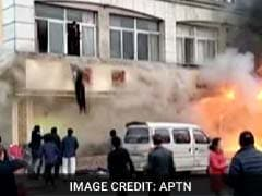 In China Fire, People Filmed Jumping Out Of Windows, 18 Dead