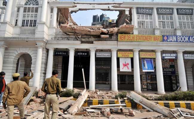 दिल्ली : कनॉट प्लेस में इमरात की छत गिरने के मामले में दुकानदारों को नोटिस