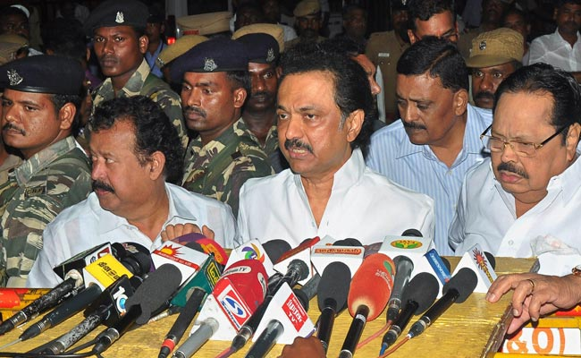 MK Stalin Alleges Cash-For-Votes In RK Nagar, Says AIADMK Paid 100 Crores