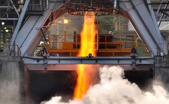 isro cryo engine flame
